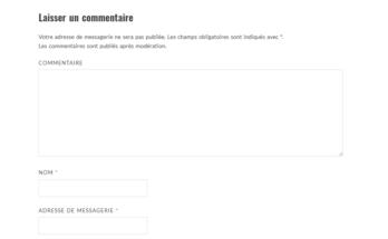Modifier le texte affiché avant le formulaire de commentaires de Wordpress