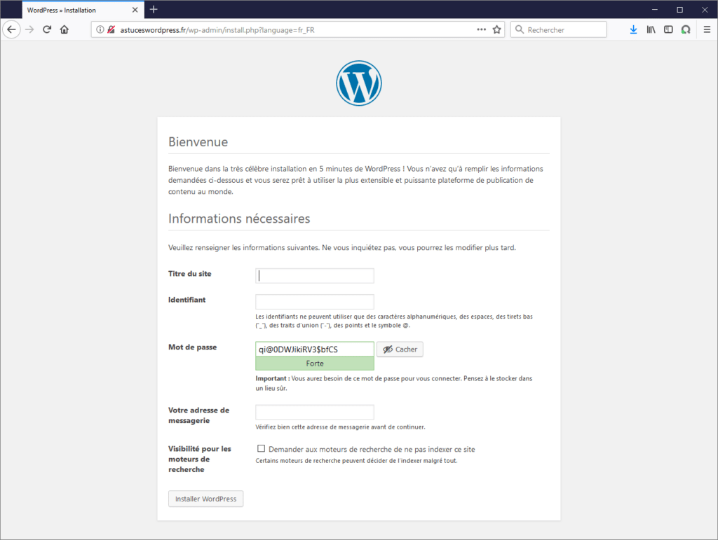 Configurer son site WordPress