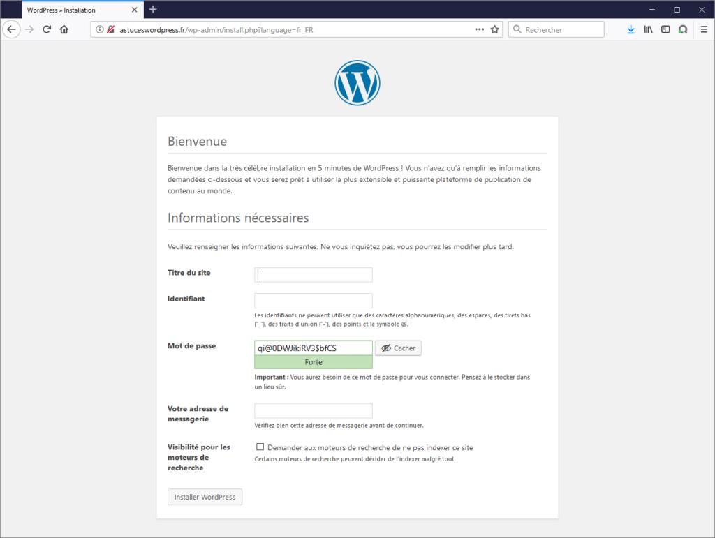 Configurer son site WordPress