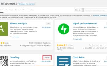 Installation d'un plugin WordPress depuis le répertoire des extensions WordPress