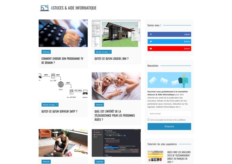 Le site web Astuces & Aide Informatique