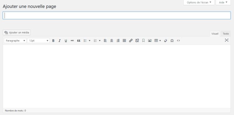 L'éditeur classique de WordPress