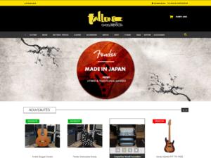 Site web du magasin de musique Fallone Music