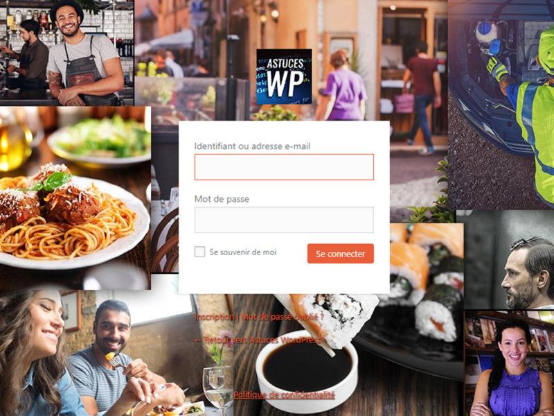 Page de connexion à l'administration de WordPress modifiée et personnalisée