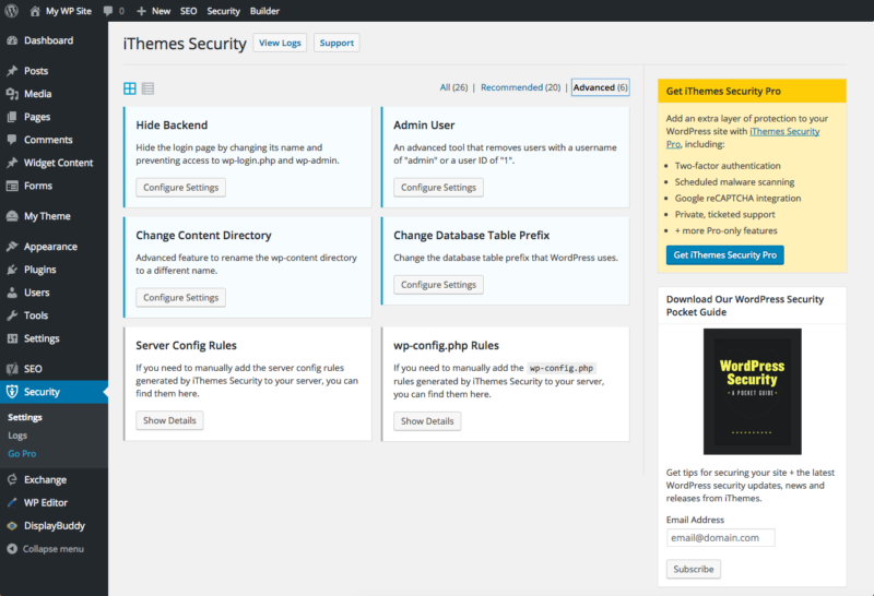 L'extension de sécurité pour WOrdPress iThemes Security
