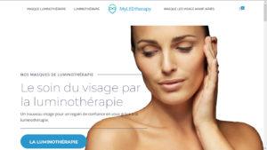 Capture d'écran du site de vente de masque de lumintothérapie MyLedTherapy