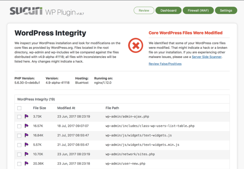 Le plugin de sécurité pour WordPress Sucuri Security