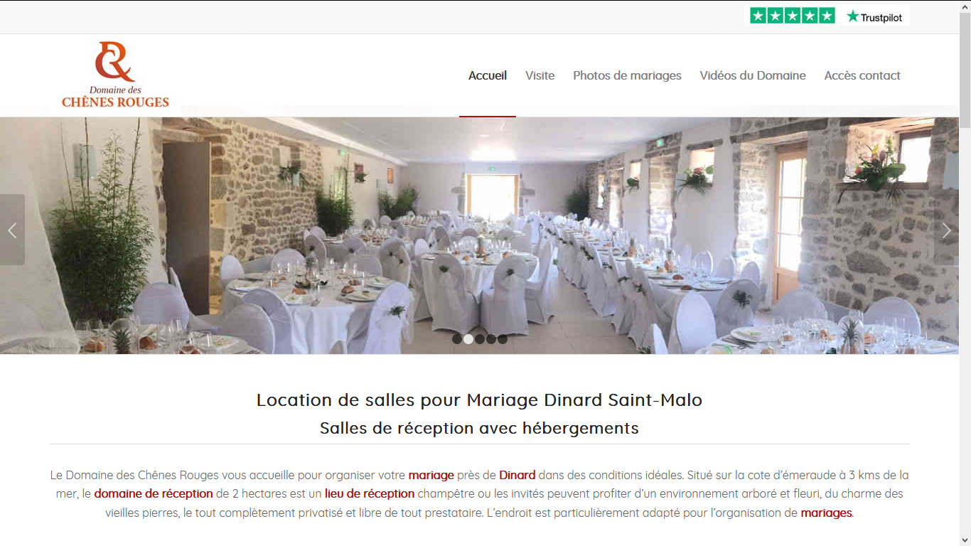 Salle De Mariage Pres De Dinard Saint Malo Domaine Des Chenes Rouges