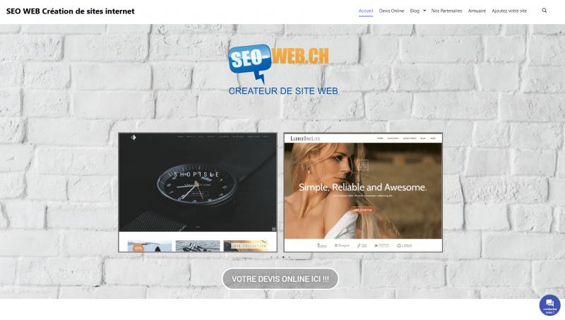 Agence de création de site internet à Genève : SEO WEB