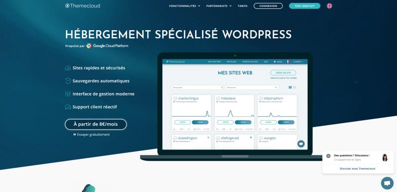 Hébergement spécialisé pour sites WordPress