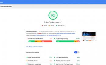 Mesure de la vitesse d'un site avec Google PageSpeed Insights