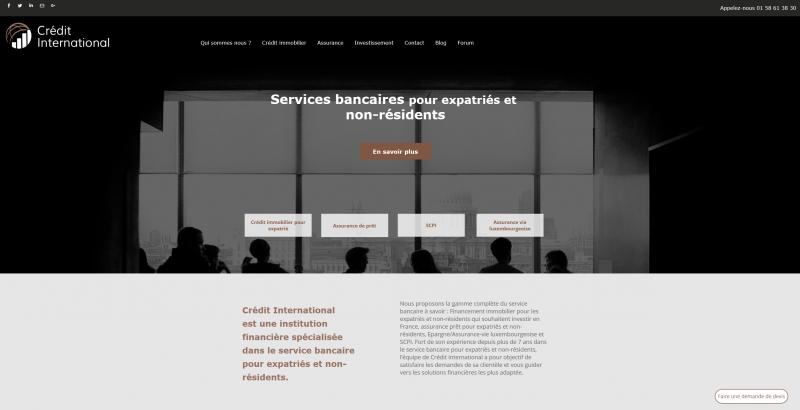 Crédit international pour les non-résidents et expatriés