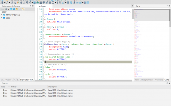 Interface de l'éditeur HTML Codelobster IDE