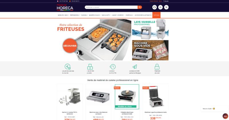 Matériel-Horeca est un site e-commerce spécialisé dans les équipements de cuisine pour professionnels CHR