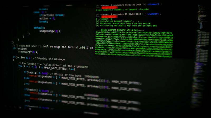 Code sur un écran d'ordinateur