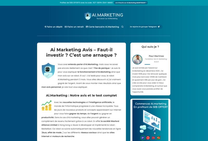 AI Marketing Avis