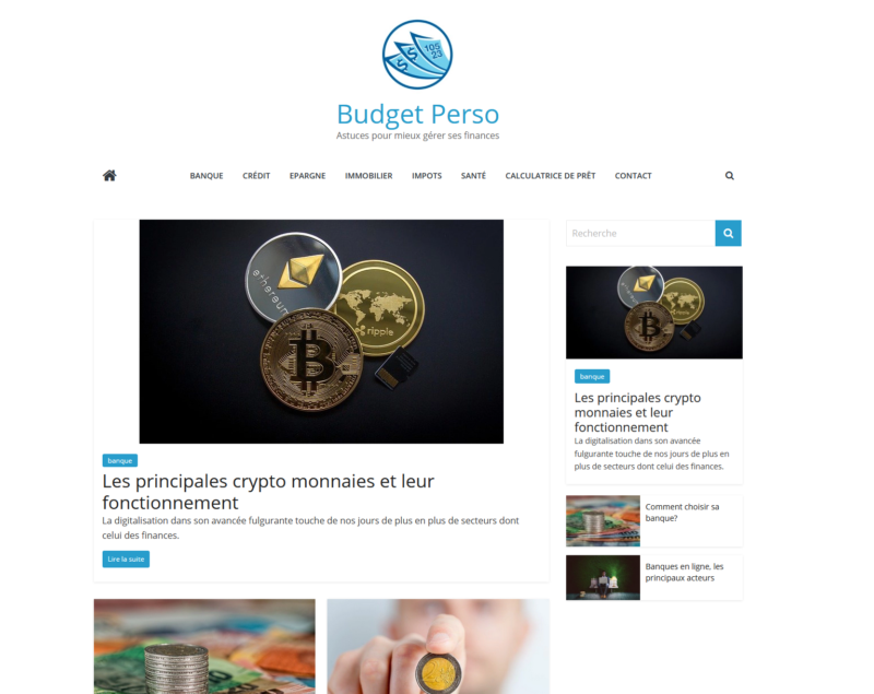 Le site de finances Budget Perso