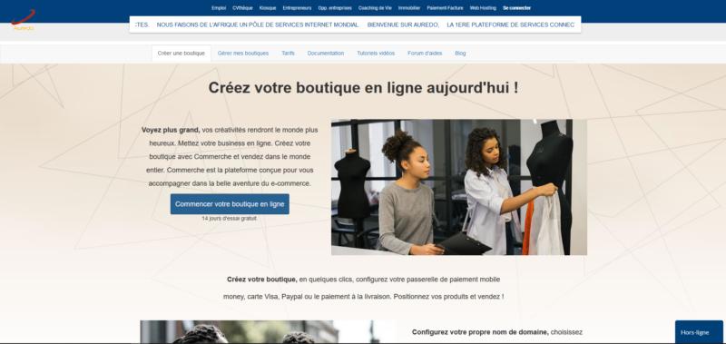 Créez facilement votre site e-commerce, boutique en ligne en quelques clics