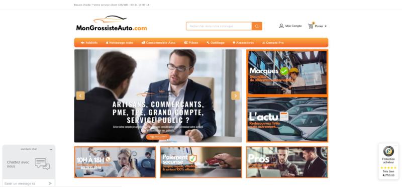 Mongrossisteauto.com, votre e-boutique de consommables auto
