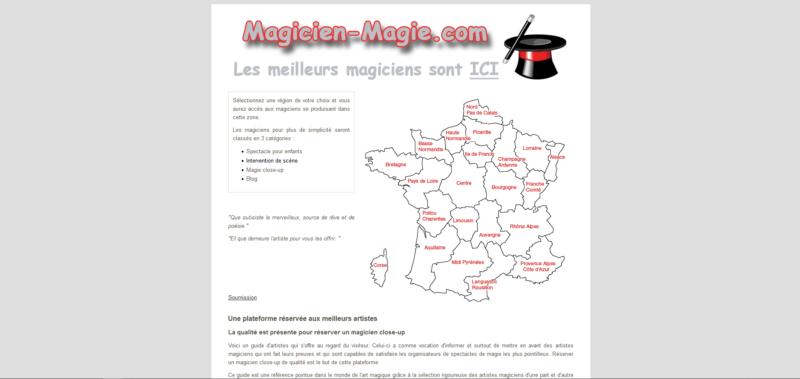 Liste d'artistes pour spectacle de magie