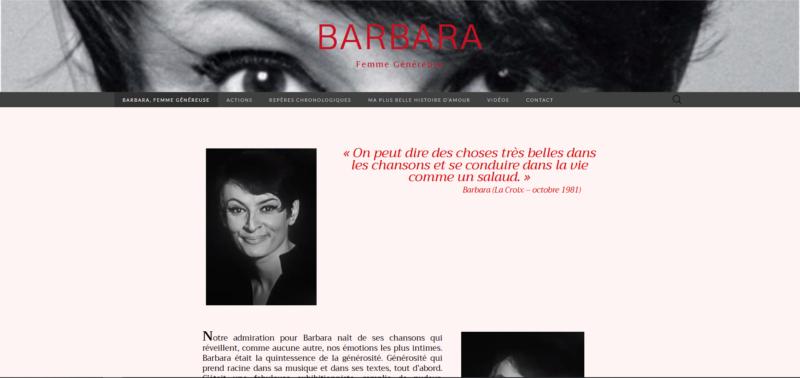 BARBARA FEMME GENEREUSE
